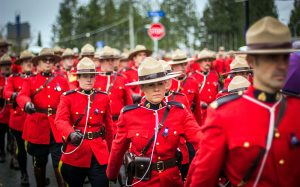 photo of RCMP officers marching