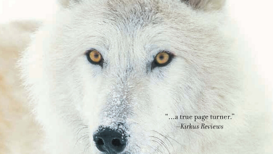 "image of arctic wolf Muhekun, a fictional character in the book ""The Amulet"""