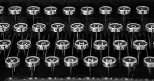 image of a typewriter keyboard