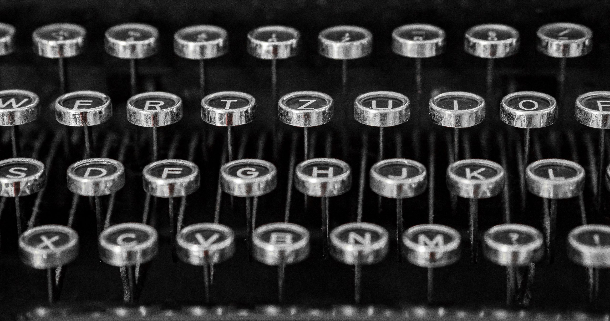 image of a typewriter keyboard