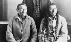 photograph of Cree Chiefs Big Bear (left) and Poundmaker (right)